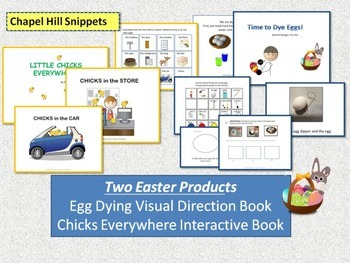 Easter Interactive Book and Egg Dyeing Visuals--SLP/Special Education