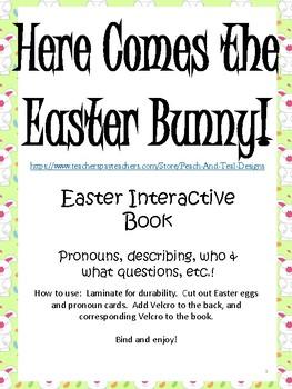 Easter Interactive Book for Pronouns, Describing, and more!