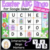 Easter Interactive Digital Letter Bingo Game for Google Slides™