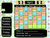 Easter Interactive Flipchart Calendar for Promethean Board