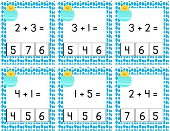 Easter / Spring Interactive Math Center Lessons / Montessori Style / Hands-on
