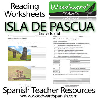 Easter Island Reading Activities and Worksheets