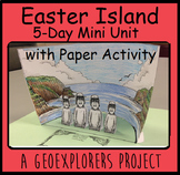 Easter Island history unit with reading, writing, and math 3rd 4th grade