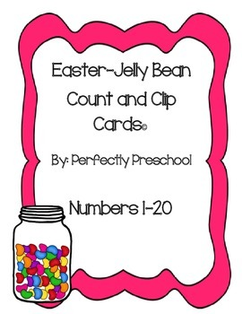 Easter Jelly Bean Count and Clip Cards