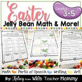 Easter Jelly Bean Fractions Graphing Probability Math ELA Writing