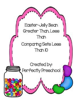 Easter Jelly Bean Greater Than Less Than