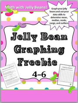 Easter: Jelly Bean Math Graphing Freebie Grades 4-6