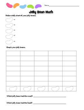 Easter Jelly Bean Math Graphing and Tally Chart Activity
