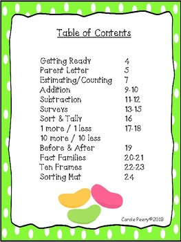 Easter Jelly Beans Edible Math