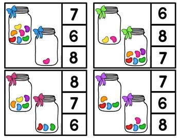 Easter Jellybean Counting Activities 0-12