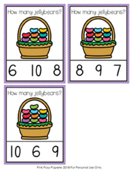 Easter Jellybeans Count and Clip Cards