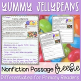 Easter Jellybeans Nonfiction Passage FREEBIE - Distance Learning