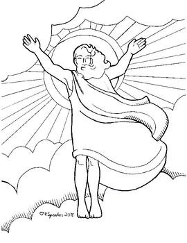 Easter Jesus Coloring Sheet