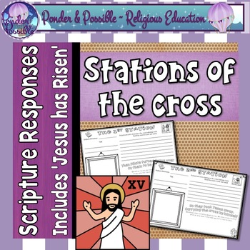 Easter ~ Jesus ~ The Stations of The Cross on Good Friday ~ Scripture Responses