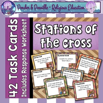 Easter ~ Jesus ~ The Stations of The Cross on Good Friday ~ Task Cards