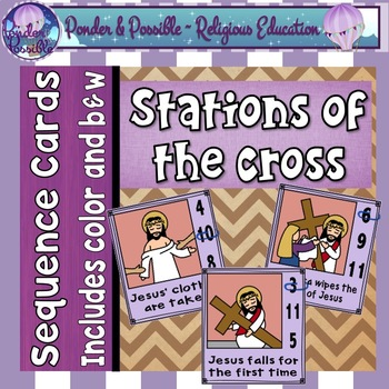 Easter ~ Jesus and The Stations of The Cross on Good Friday Sequence Cards