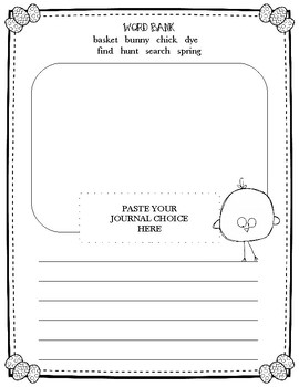Easter Journal Prompt