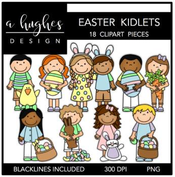 Easter Kidlets Clipart {A Hughes Design}