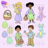 Easter Kids Clip Art