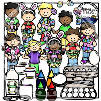 Easter Egg Dyeing (Easter Clipart)