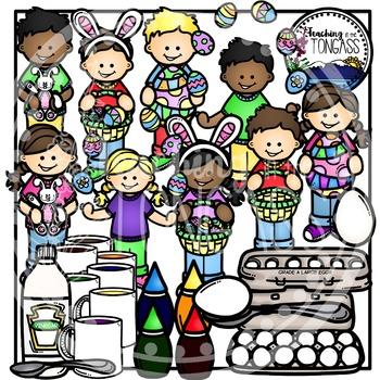 Easter Clipart Kids Bundle