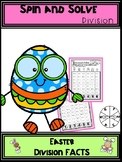 Easter Kids Division Spin and Solve Math Centers