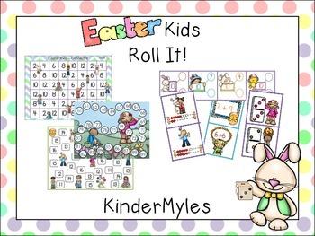 Easter Kids Roll It {Math}