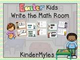 Easter Kids Write the Math Room