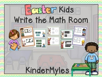 Easter Kids Write the Math Room