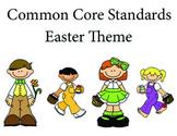 Easter Kindergarten English Common core standards posters