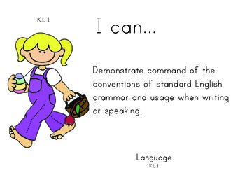 Easter Kindergarten English Common core standards posters
