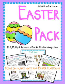 Easter Kindergarten, First Grade ELA & Social Studies Integration
