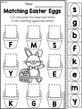 Easter Kindergarten Literacy Worksheets (Common Core Aligned)