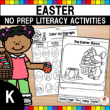 Easter Literacy Worksheets (Kindergarten)