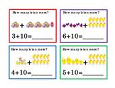 Easter Kindergarten Math 10 More ELA Task Cards Emergent Reader Printable ELA 4p
