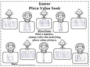 Easter Kindergarten Math Centers (12 Centers)