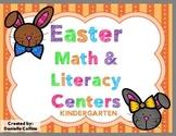 Easter Kindergarten Math & Literacy Pack (20+ Centers)