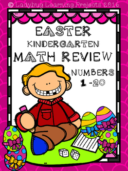 Easter Kindergarten Math  Review for Numbers 1 -20
