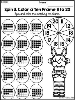 easter kindergarten math worksheets common core aligned by united teaching. Black Bedroom Furniture Sets. Home Design Ideas
