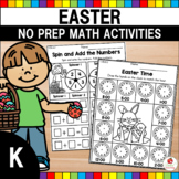 Easter Math Worksheets (Kindergarten)