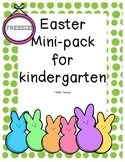 Easter Kindergarten Mini-Unit FREEBIE