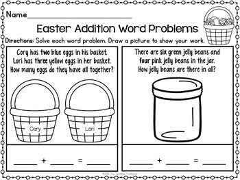 Easter Kindergarten Pack ~ Print & Go, No Prep ~ CCSS Aligned