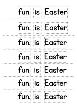 Easter Printable Week of Writing Book