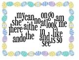 Easter Kindergarten Sight Word Wordle