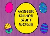 Easter Kindergarten Sight Words Flash Cards