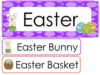Easter Word Wall Weekly Theme Posters.