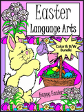 Easter Activities: Easter Language Arts Activity Bundle - Color&BW Versions