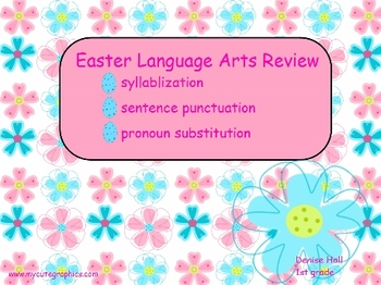 Easter Language Arts Skill Practice