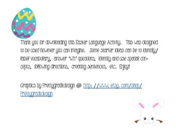 Easter Language Building Activity