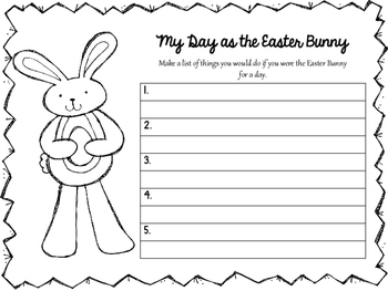 Easter Language and Math Activities- ENGLISH